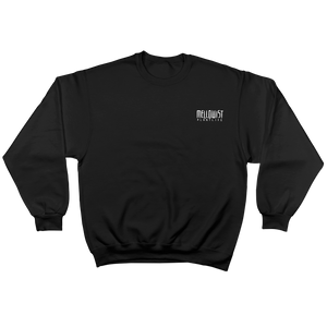 'Lonely Saguaro' Crewneck Sweatshirt (Black)