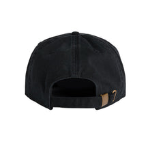 Load image into Gallery viewer, 'Lophophora & Friends' Unstructured 6 Panel StrapBack Hat (Black)