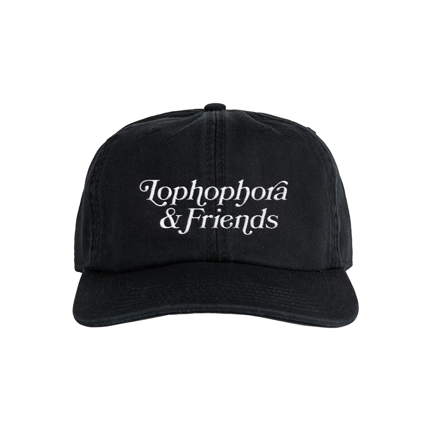 'Lophophora & Friends' Unstructured 6 Panel StrapBack Hat (Black)