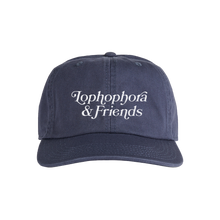 Load image into Gallery viewer, 'Lophophora & Friends' Unstructured 6 Panel StrapBack Hat (Blue)