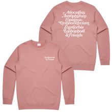 Load image into Gallery viewer, 'Lophophora & Friends' Crewneck Sweatshirt (Rose)