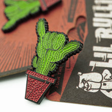 Load image into Gallery viewer, 'Saguaro Shaka' Lapel Pin
