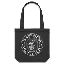 Load image into Gallery viewer, 'Plant Fiend' Large Black Tote (Bag)