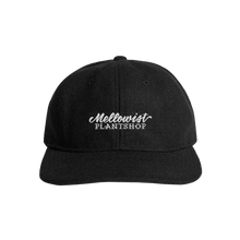 Load image into Gallery viewer, 'Plant Shop' Unstructured Wool StrapBack Hat (Black)