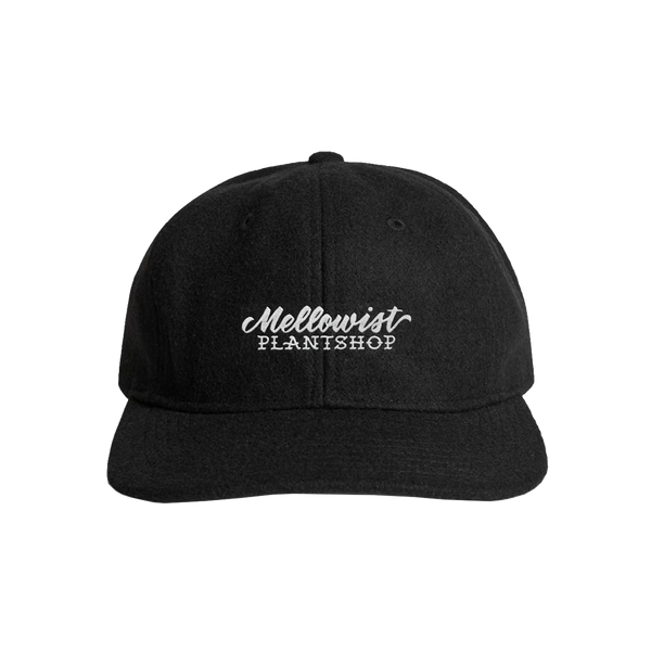 'Plant Shop' Unstructured Wool StrapBack Hat (Black)