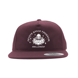 'Peyote Space Program' SnapBack Hat (Maroon)