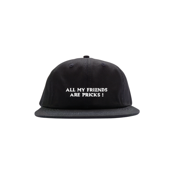 'Friends' Unstructured StrapBack Hat (Black)