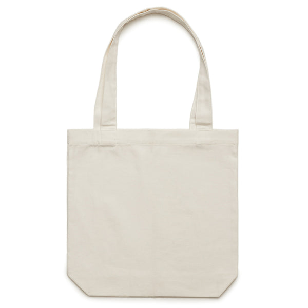 'Aloe Script' Large Natural Tote (Bag)