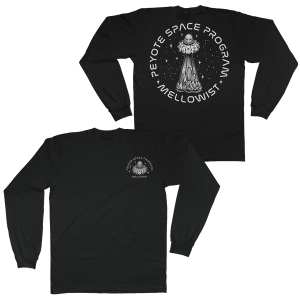 'Peyote Space Program' Long Sleeve T-Shirt (Black)