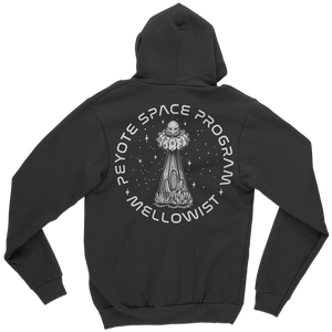 'Peyote Space Program' Zip Hoodie (Black)