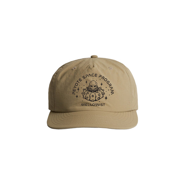 'Peyote Space Program' Unstructured Nylon SnapBack Hat (Khaki)