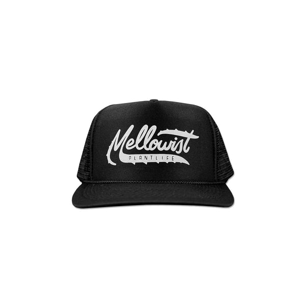 'Aloe' Trucker Hat (Black)