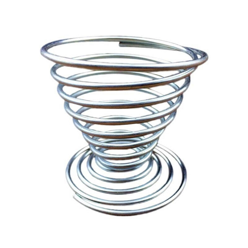 Stainless Steel Egg Cup Spring Wire Tray Eggs Holder Shelf Stand ...