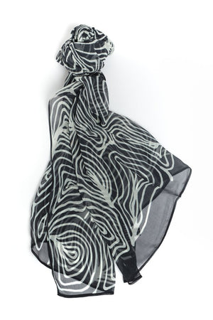 Silk Chiffon Scarf - Emu Feather