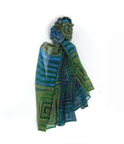 Silk Chiffon Scarf - Natures Ants (Blue)