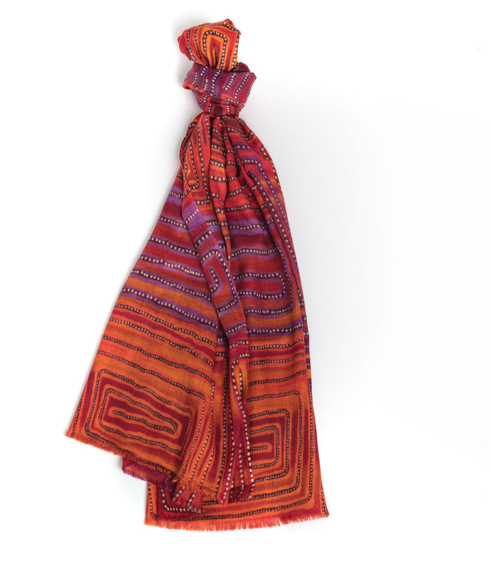 Cashmere Scarf - Natures Ants Pink