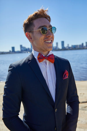 Pocket Square - Natures Ants (Red)