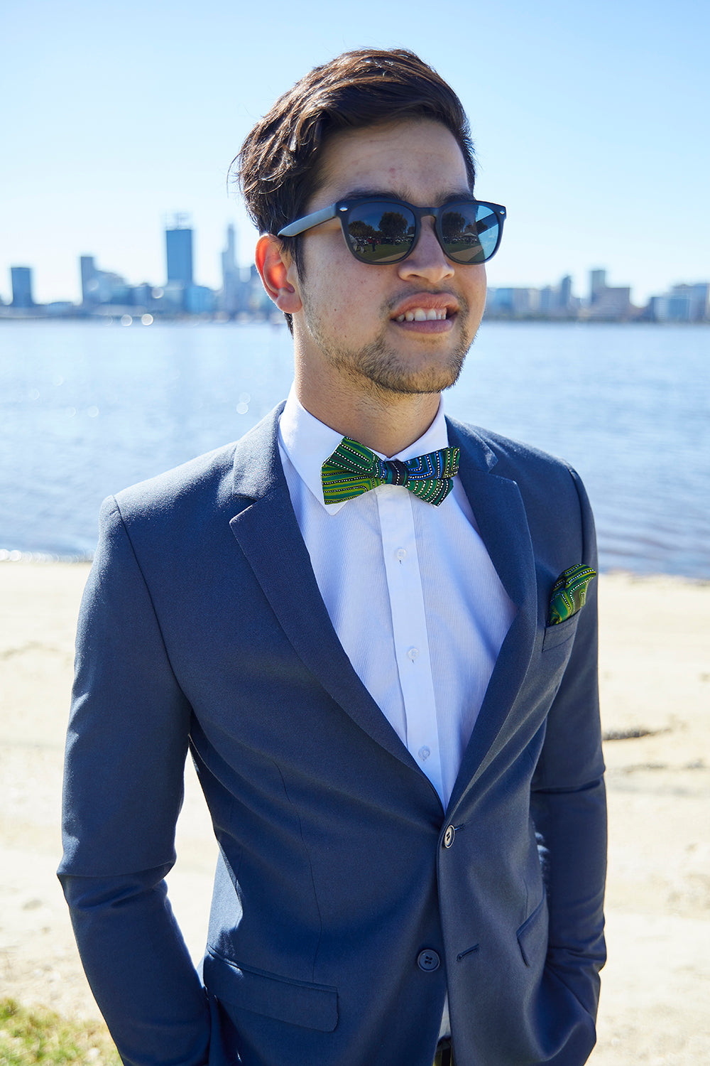 Pocket Square - Natures Ants (Blue)