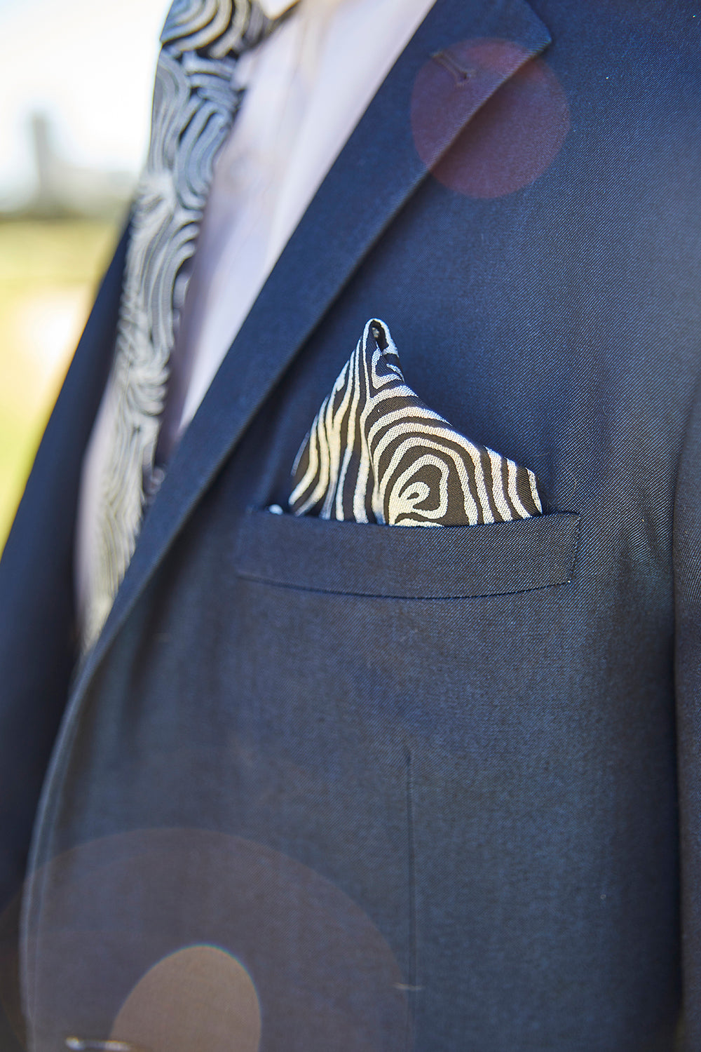 Pocket Square - Emu Feathers (Silver)