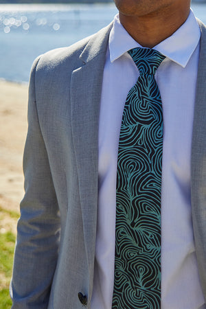 Necktie - Emu Feathers (Blue)