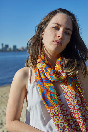 Silk Chiffon Scarf - Stories In The Sun
