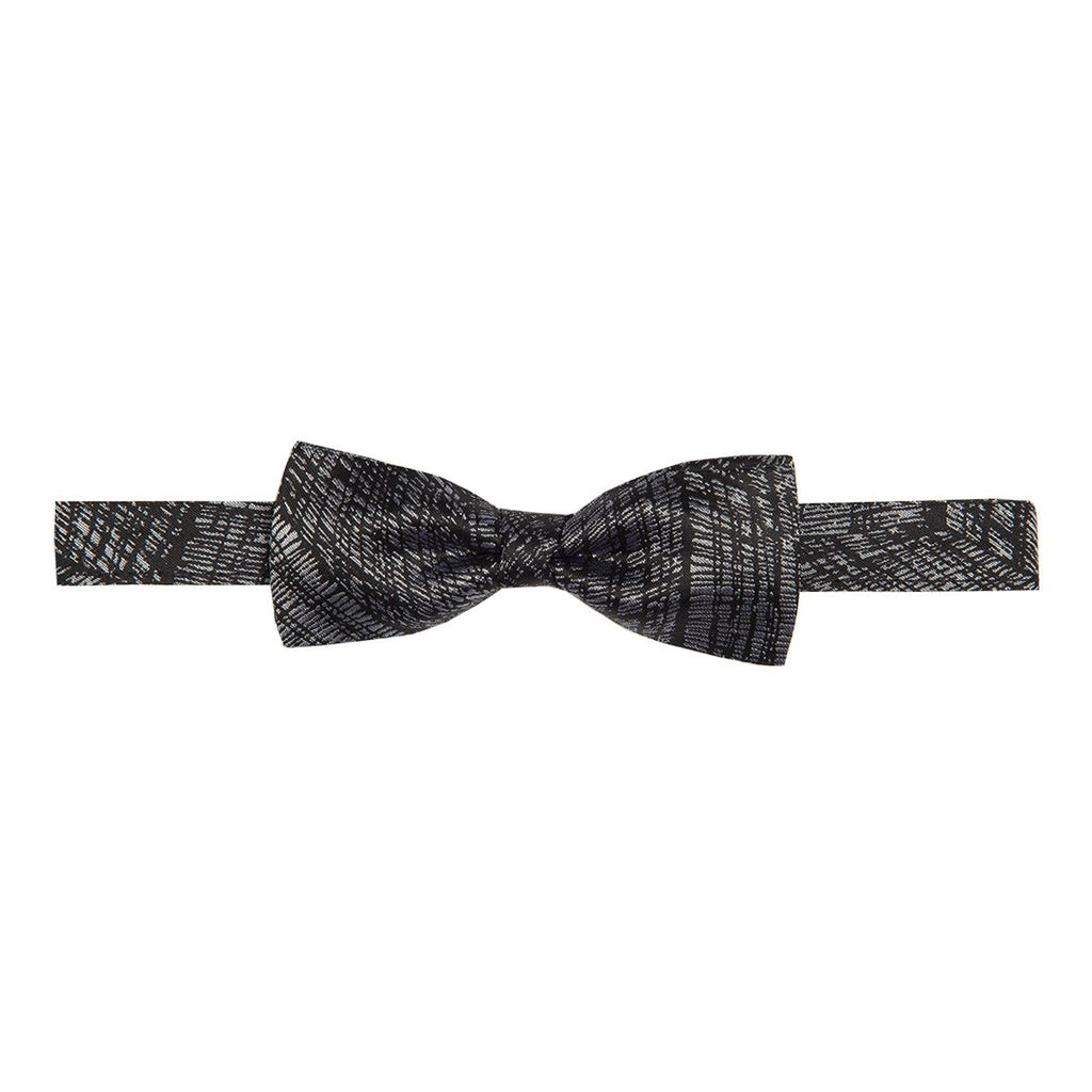 Bow Tie & Pocket Square Set - Fishing Net : Black & Silver