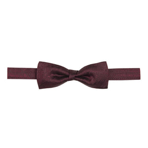Bow Tie & Pocket Square Set - Fishing Net : Burgundy