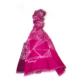Pure Silk Scarf - Gathering Mussels Pink