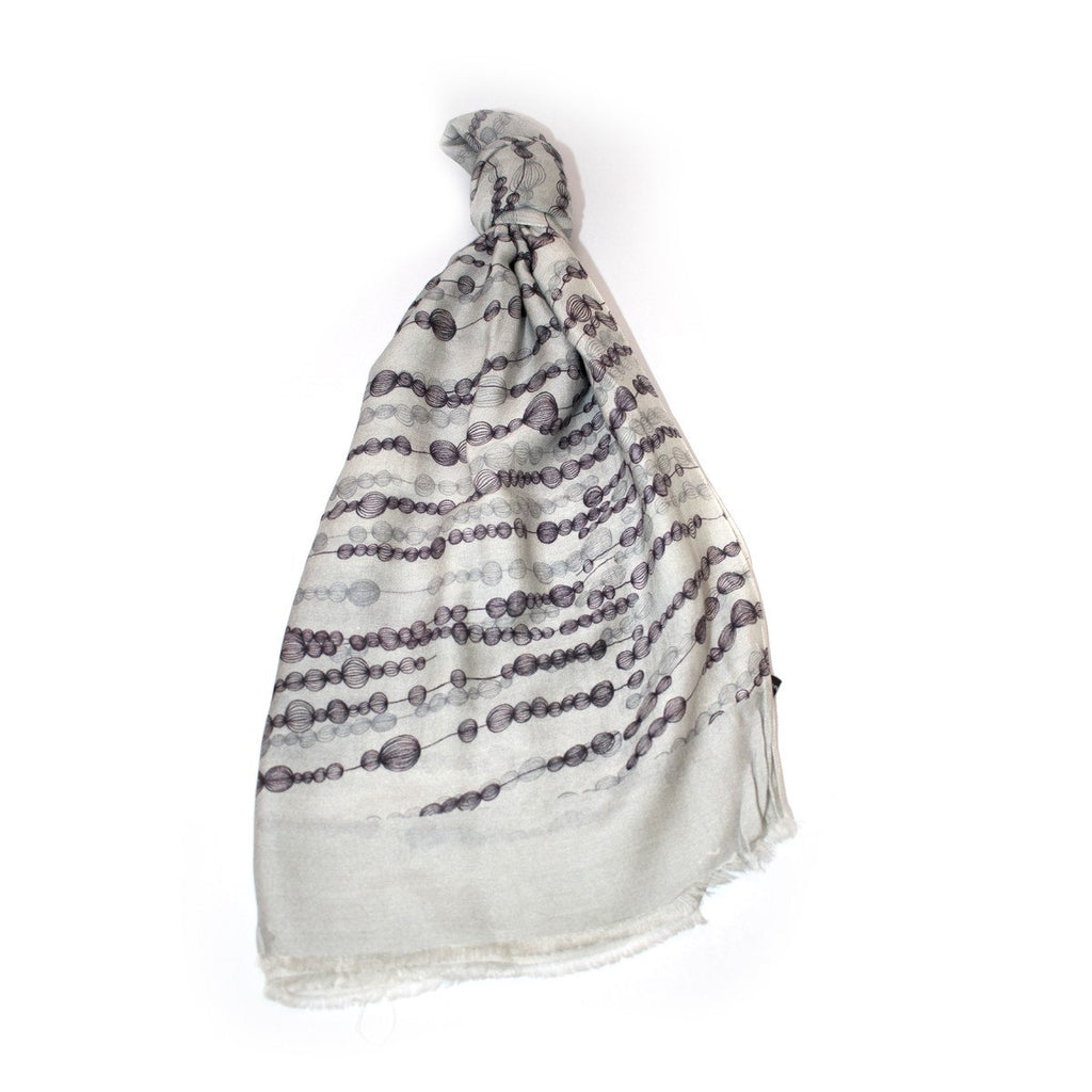 Silk Cotton Scarf - Gooseberries