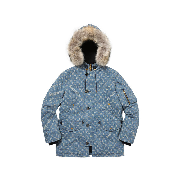 Louis Vuitton x Supreme Jacquard Denim N-3B Parka