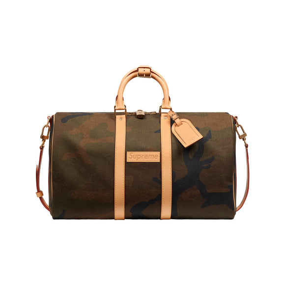 Louis Vuitton x Supreme Keepall Bandouliére Monogram Camo 45
