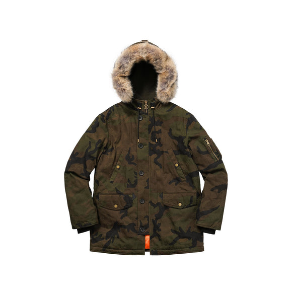 Louis Vuitton x Supreme Jacquard Camo Denim N-3B Parka