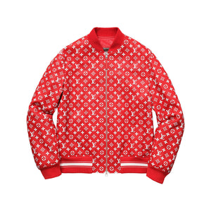 Louis Vuitton x Supreme Leather Baseball Jacket