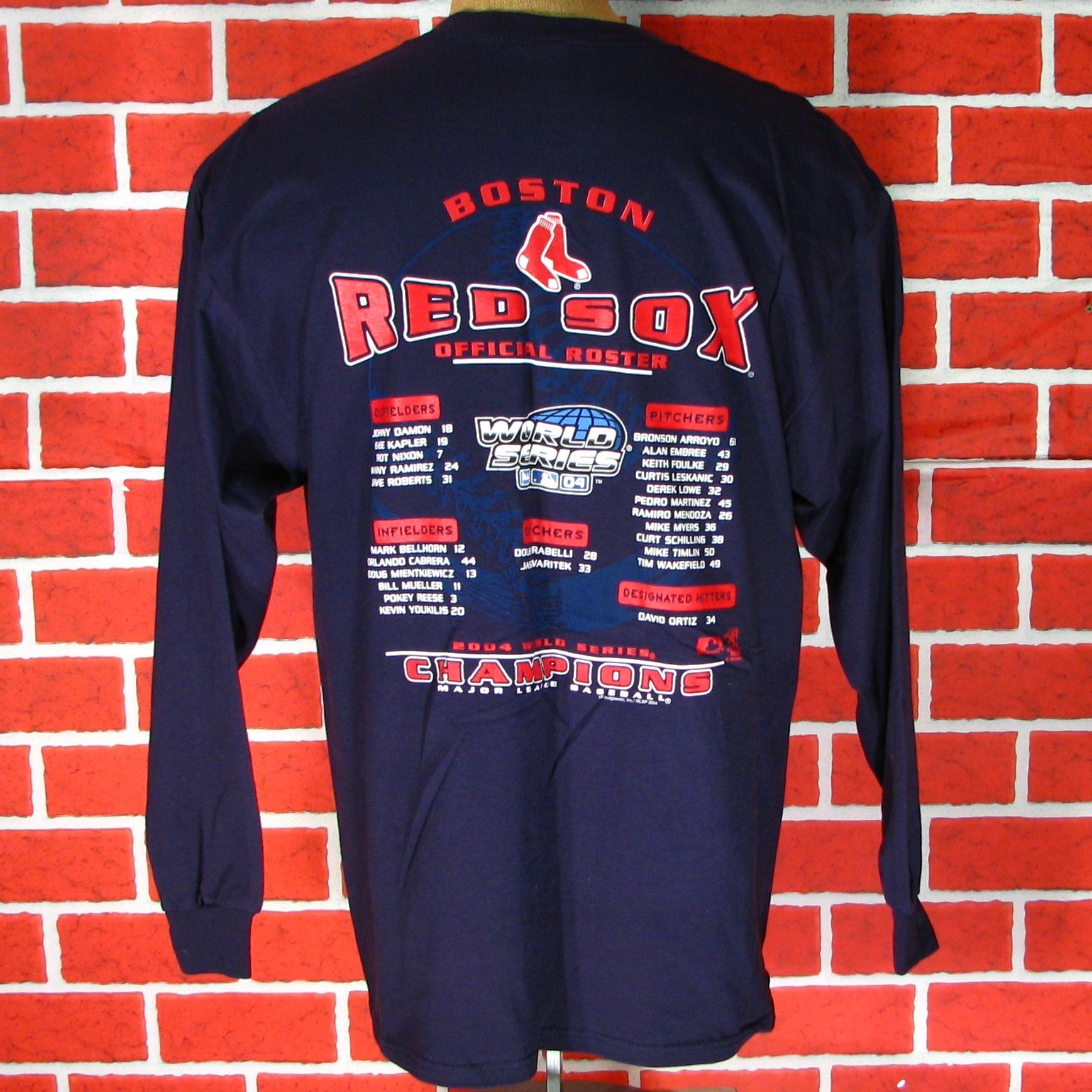 Boston Red Sox 2004 World Series Champs Long Sleeve T-Shirt