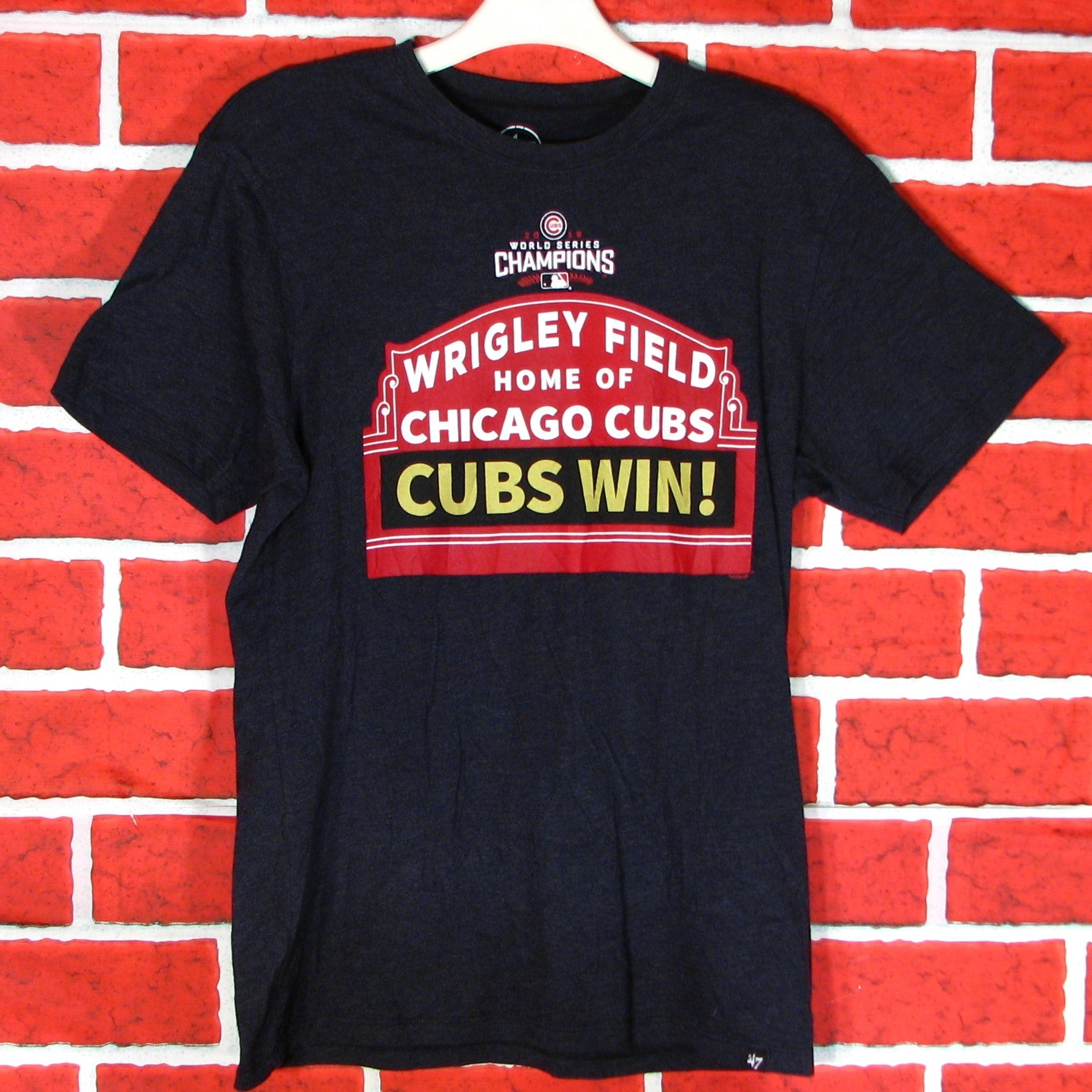 09d6511c2 Wrigley Field Home of the Chicago Cubs Cubs Win 2016 T-Shirt ...