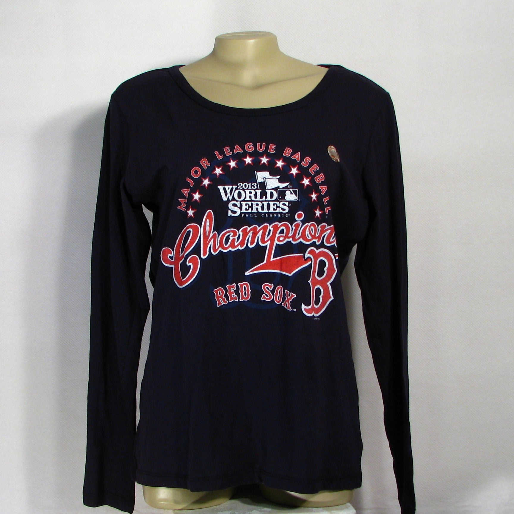 Red Sox 2013 Champions Long Sleeve T-Shirt Womens