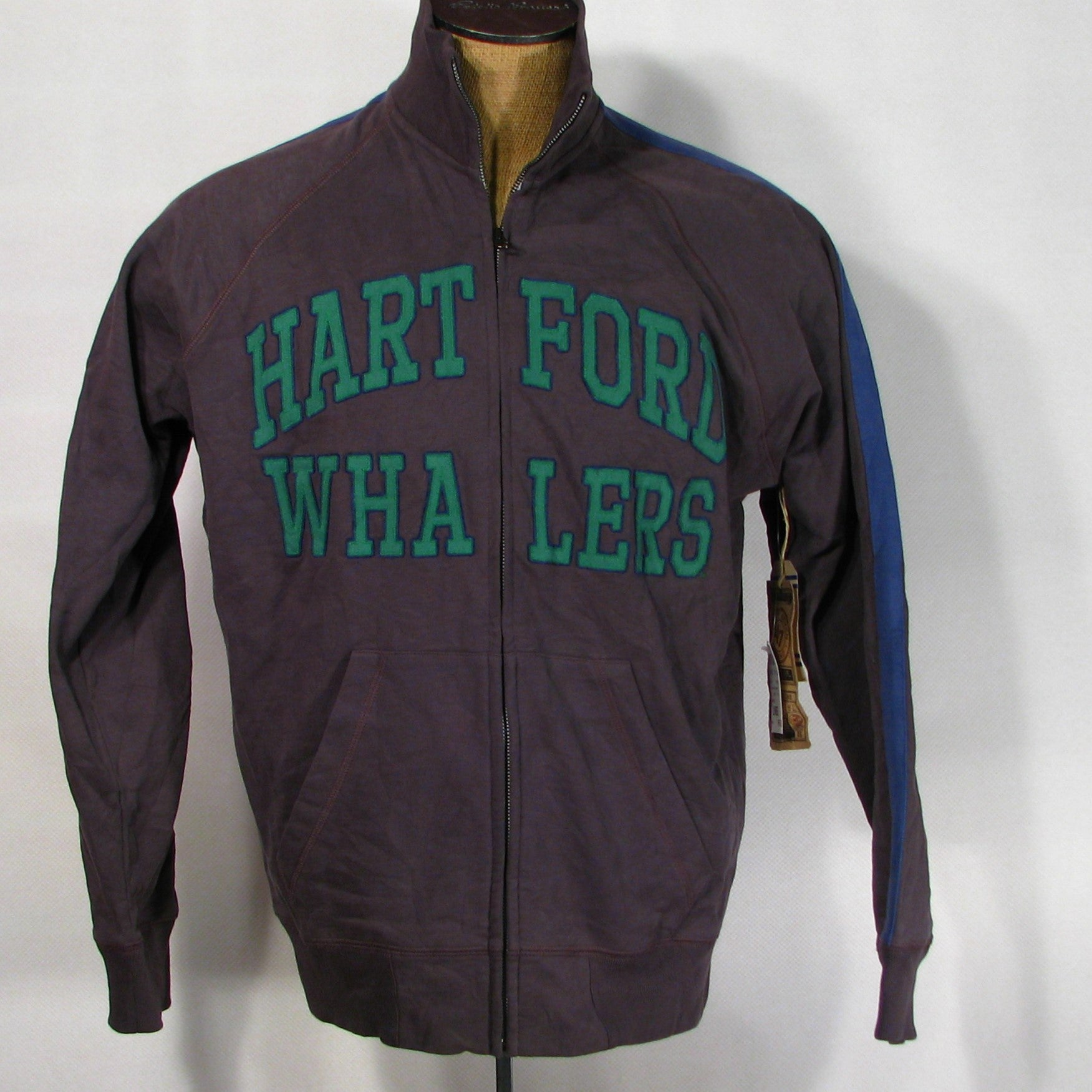 Hartford Whalers Vintage cotton zip up Jacket