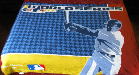 2007 World Series MLB throw blanket