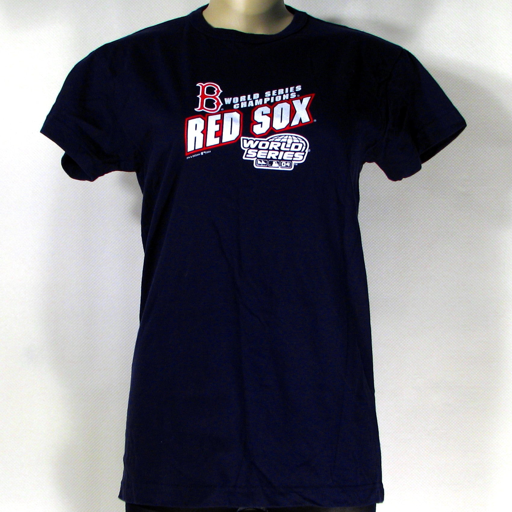 Boston Red Sox World Series Champs 2004 T-Shirt Womens