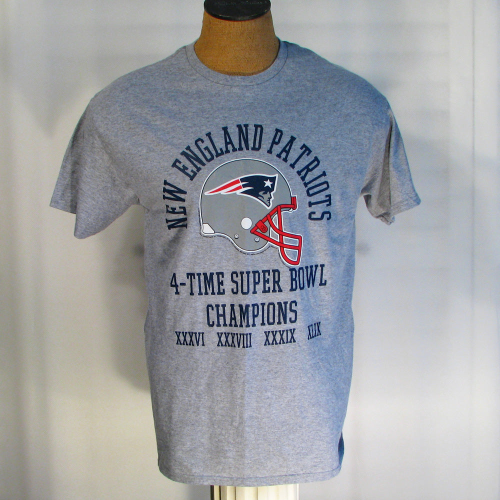 New England Patriots 4 time Superbowl champions T-shirt