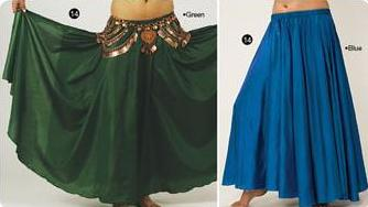 Acrylic Silk Belly Dance Skirt