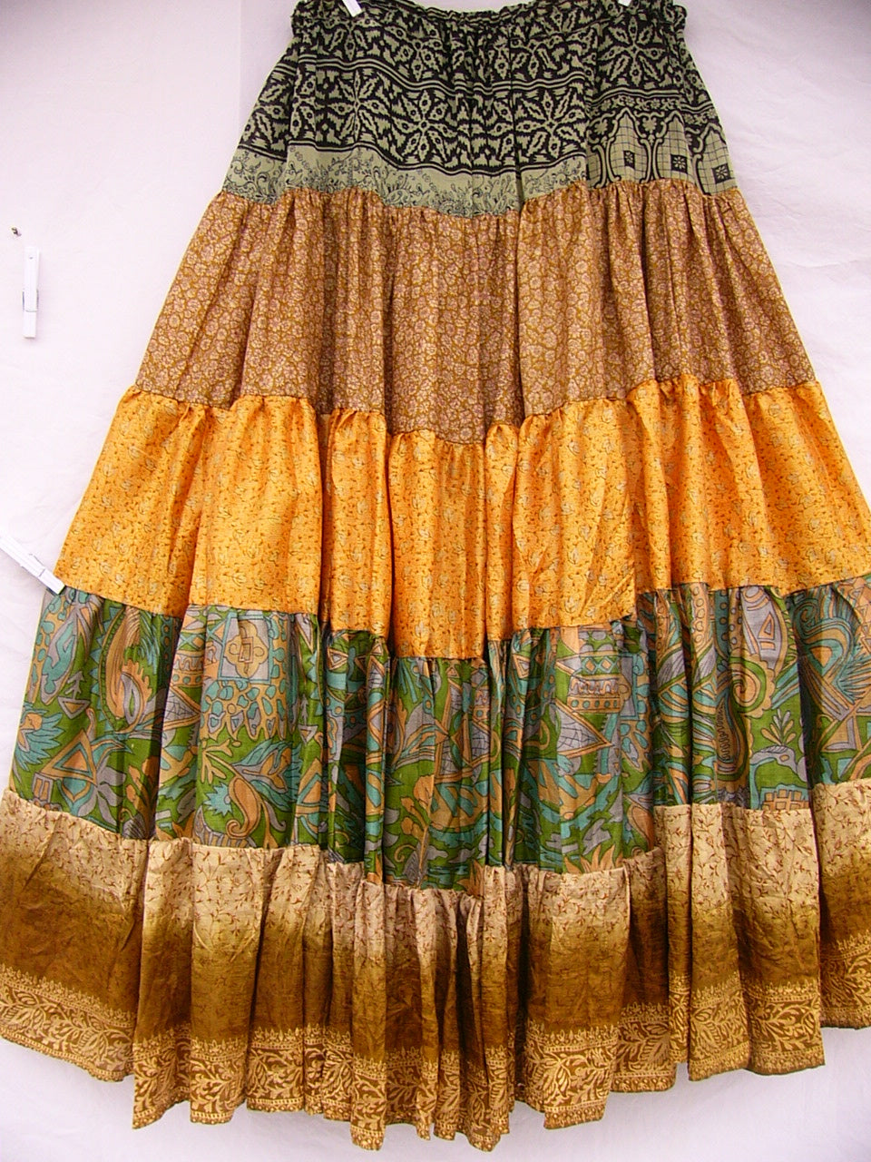 Vintage Sari Skirt Belly Dance Costume