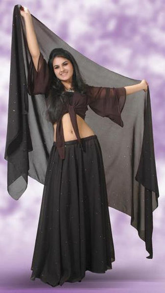 Black Chiffon Belly Dance Skirt
