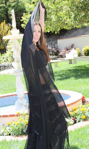 Black Chiffon Belly Dance Costume Veil