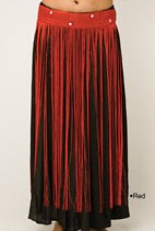 Red Tribal Belly Dance Fringe Hip Wrap Belt Scarf with Mirrors