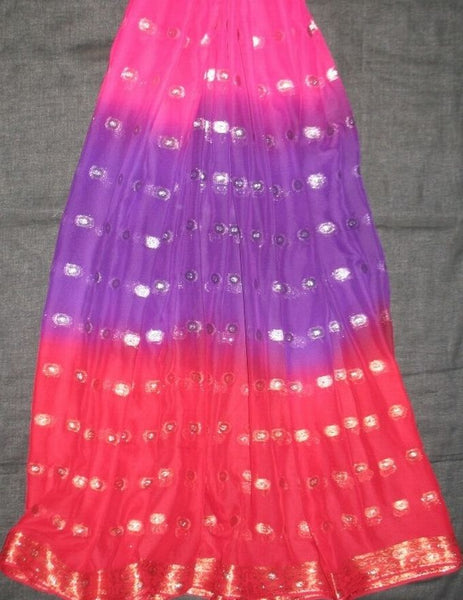 3 Yard Chiffon Belly Dance Veil Fuchsia Purple Red