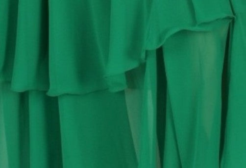 Green 3-Panel Chiffon Belly Dance Skirt