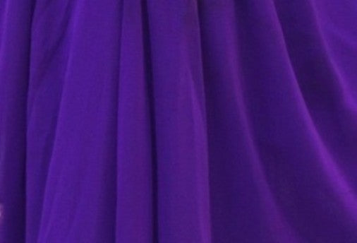 Purple 3-Panel Belly Dance Slit Skirt Chiffon