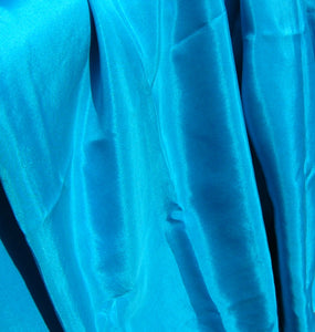 Solid Turquoise Rectangular Silk Belly Dance Veil