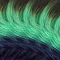 OMBRÉ - Chocolate Roast Brown & Green & Blue